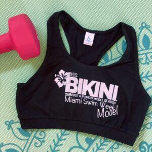 Miss Bikini Fitness Sports Bra Work Out Top
