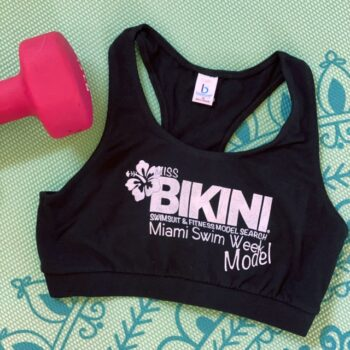 Miss Bikini Fitness Sports Bra Work Out Top