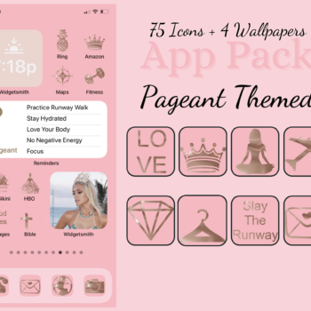 Pageant Themed Apple IOS 14 Icon App Pack
