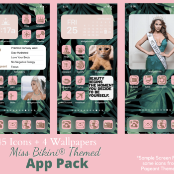 Miss Bikini Themed Apple IOS 14 Icon App Pack